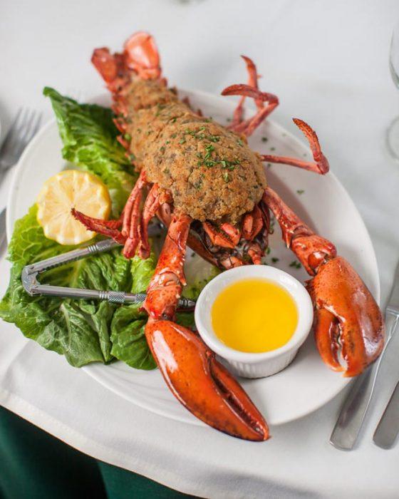 Baked Stuffed Lobster   Wild Rose Restaurant Recipes